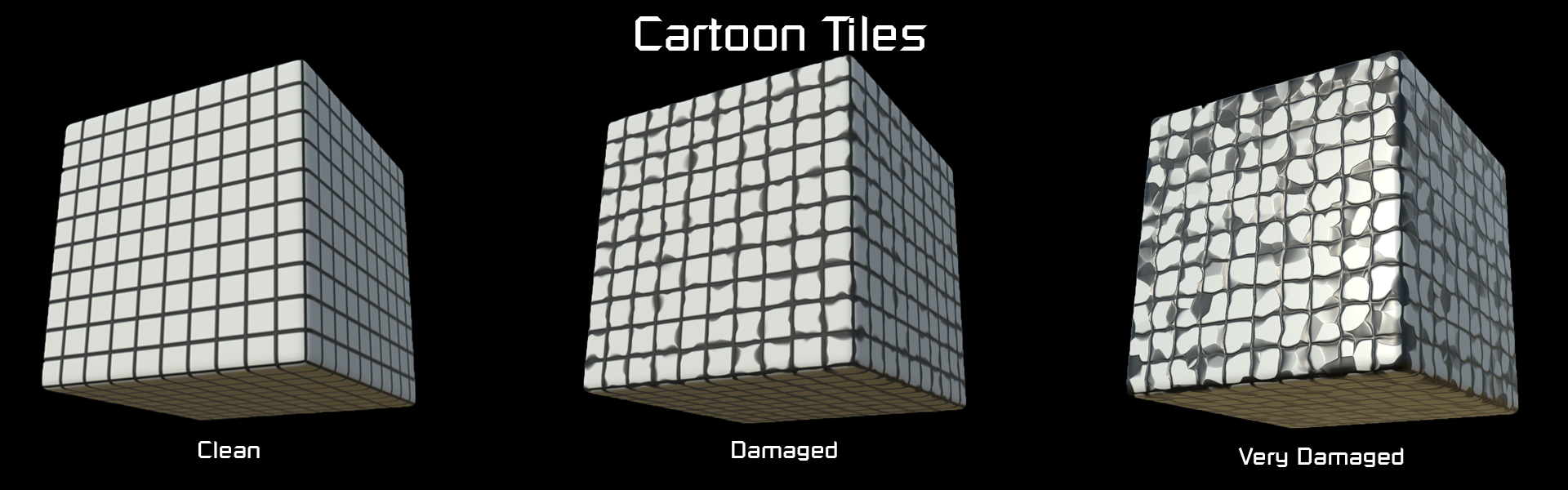 Materials_TileDisplay Cartoon Tiles
