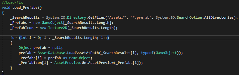 Editor Script Find Prefab Objects